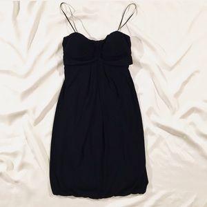 👽Cache strapless cocktail little black dress